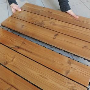 Piastrella autoposante da esterno SMARTDECK Thermowood 40x120x2,5 cm