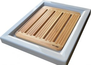 Pedana doccia arcano Larix Decidua cm 55x68 per piatto doccia 70x90 cm