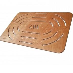 Pedana doccia in compensato marino cm 78x52 per piatti 100x70 cm