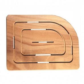 Pedana doccia legno marino okumé cm 74,5 x 55 per piatti 70 x 90 cm