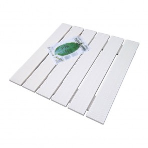 Pedana doccia in LEGNO ECOTECH bianco cm 59 x 59 per piatti da 80 x 80