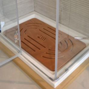 Pedana doccia in okumé cm 96 x 57 per piatti da 120 x 70-80
