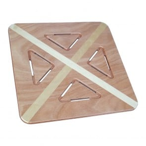Pedana doccia  in okumè intarsiato betulla cm 60 x 60 per piatti da 80 x 80