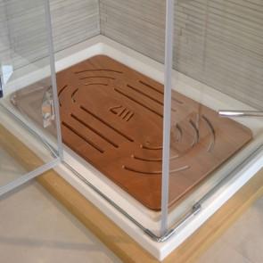 Pedana doccia in okumé cm 96 x 67 per piatti da 120 x 80
