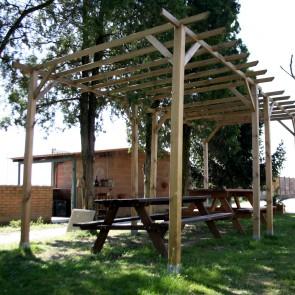 Pergola autoportante legno impregnato cm. 300 x 300