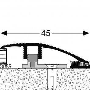 Profilo SOGLIA per dislivello con finitura in Metallo