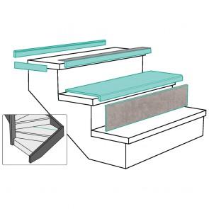 ALZATA LIGHT GREY STONE rivestimento per scale in MDF - Fai da te facile e veloce