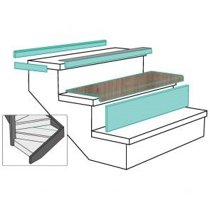 GRADINO LOUSIANA OAK rivestimento per scale in MDF - Fai da te facile e veloce