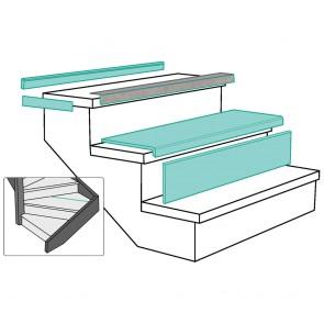 PROFILO DI PARTENZA LIGHT GREY STONE rivestimento per scale in MDF - Fai da te facile e veloce
