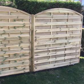 Pannello frangivista CLASSICO ad ARCO 180 x 180 h. cm in legno impregnato