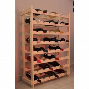 Scaffale Portabottiglie CANTINETTA in legno 75 x 25 x 100 h. cm - 48 Bottiglie