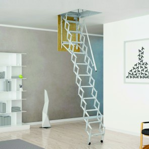 SCALA RETRATTILE PANTO per soffitta con corrimano