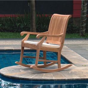 Sedia a dondolo in legno Teak - 60 x 51 x 108h cm