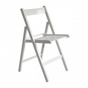 Sedie da giardino pieghevoli in legno di faggio color Bianco - Set 4 sedie 43 x 49 x 79h cm