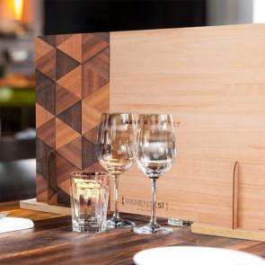 BARRIERA PROTETTIVA Parentesi in Legno Naturale per la ristorazione 80x62,5 cm - Made in Italy