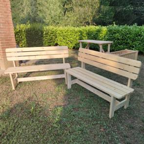 Onlywood Set 2 Panche CADICE Arredo da Esterno in Legno Naturale