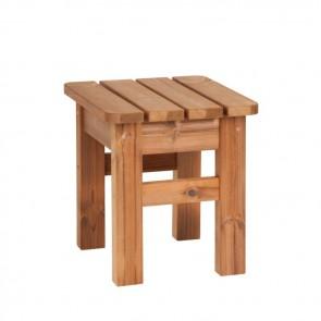 Sgabello - tavolino da giardino in LEGNO THERMOWOOD 40 x 40 x 45 cm - DURATA 30 ANNI