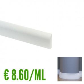 BATTISCOPA BIANCO FLESSIBILE in Pvc 10 x 69 mm asta 2,40 m