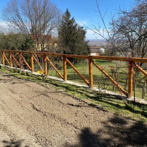Onlywood Staccionata traversa diagonale in Castagno Scortecciato
