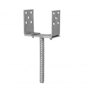 Staffa di fissaggio a terra da cementare - Regolabile fino a 16 cm
