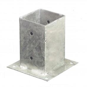 Staffa fissaggio su cemento per palo 9 x 9