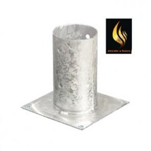 Staffa fissaggio su cemento per palo tondo - 3 Diametri (8-10-12-14)