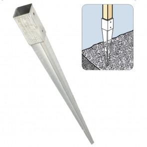 Staffa fissaggio su terra per palo 12 x12