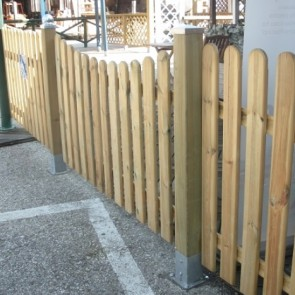 Steccato CONCAVO ROBUSTO professionale avvitato altezza 86-100 cm