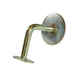 SUPPORTO TONDO MONOFORO in metallo finitura zincata per corrimano - CONFEZIONE 5 PEZZI