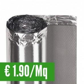 Sottopavimento SECURA AQUASTOP 2 mm con barriera antivapore  - Rotolo 15 Mq