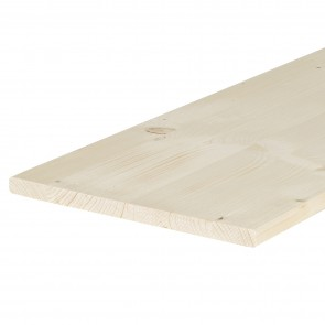 Tavola lamellare legno ABETE spessore 18 mm. 2500 x 500 mm