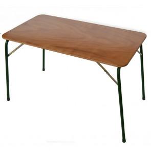 TAVOLO DA CAMPEGGIO pieghevole in legno di OKumè cm 110x60 con piedino regolabile
