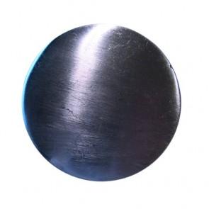TERMINALE CORRIMANO Tondo Ø 50 mm mm in metallo finitua Acciaio Satinato - CONFEZIONE 10 PEZZI