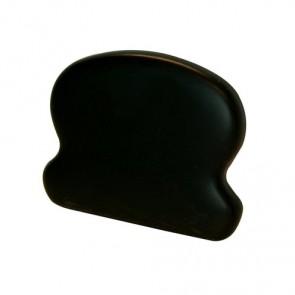 TERMINALE CORRIMANO 60 x 44 mm in metallo verniciato nero - CONFEZIONE 10 PEZZI
