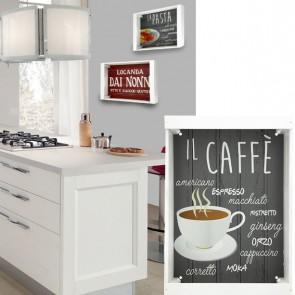 Vassoio decorativo CAFFE' in legno 35 x 25 cm
