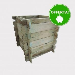 Fioriera FACILE in legno 50x50x49 h pino impregnato