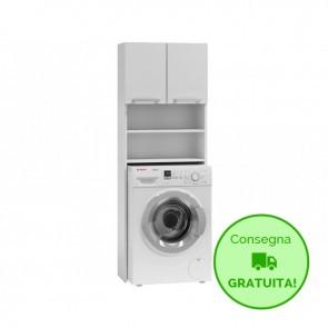Mobile lavanderia componibile POLA - 64 x 30 x 183h cm - Bianco