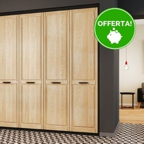 Ante per Armadio a Muro 610 x 2050 mm in Legno Naturale