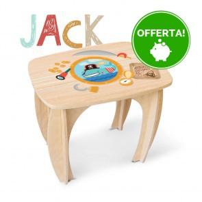 TAVOLINO IN LEGNO di Betulla per Bambini JACK