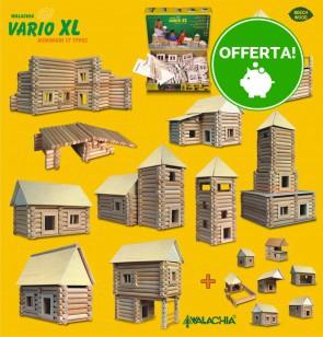 Costruzioni in Legno ad incastro set VARIO XL 184 pezzi - 8 Composizioni diverse
