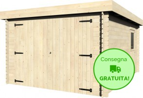 Decor et jardin Garage Galan in legno di Abete 3,49 x 4,81 m