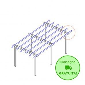 Pergola  BASIC autoportante 800x400 legno classe 4 - portata 50 Kg - ANCHE SU MISURA