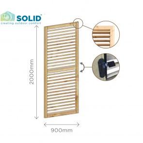 Pannello frangivista alette regolabili 90 x 200 h. cm in legno IMPREGNATO
