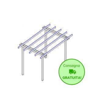 Pergola  BASIC autoportante 400x300 legno classe 4 - portata 50 Kg - ANCHE SU MISURA