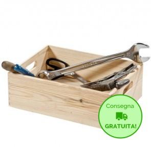 Scatola in legno porta oggetti - 40 x 30 x 14h cm