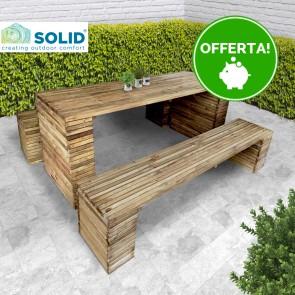 Tavolo BARCELONA legno di pino impregnato 200 x 80 x 78 h cm