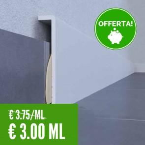 Coprizoccolo 100% IMPERMEABILE Bianco LVT 95 x 19 mm