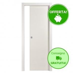 Porta Scorrevole Interna Reversibile TRENDY Melaminico Bianco Latte h. 210 - 4 dimensioni