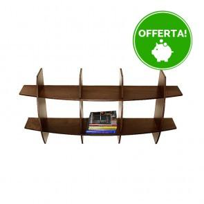 Libreria componibile in legno AMBRA - 150 x 30 x 75h cm - finitura Noce