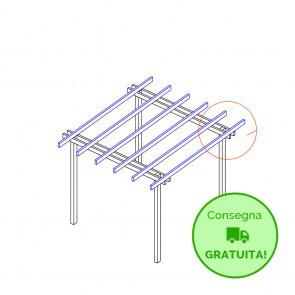 Pergola  BASIC autoportante 300x400 legno classe 4 - portata 50 Kg - ANCHE SU MISURA